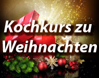 Kochkurs Gutschein zu Weihnachten
